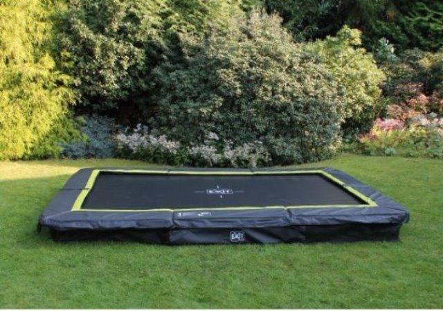 Exit Silhouette Ground trampoline 214x305 black