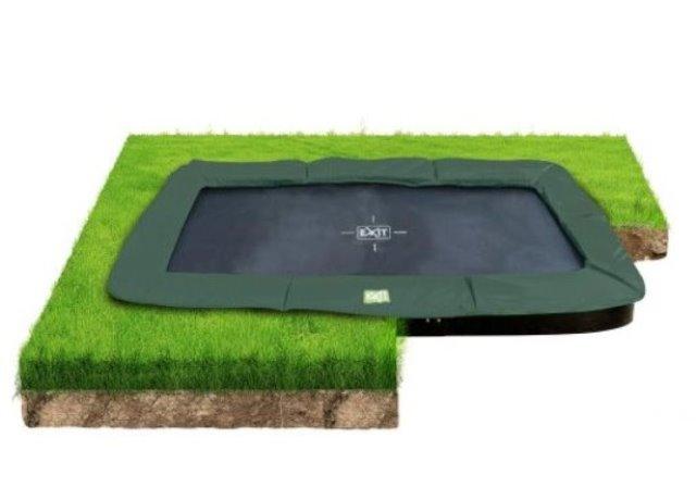 Exit Interra 214x366cm groundlevel trampoline