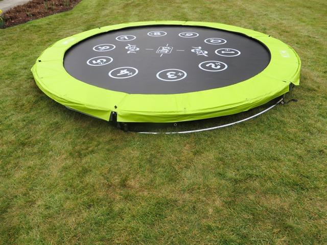 Exit Twist 244cm ground trampoline