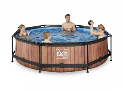 Exit zwembad 360cm wood