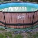 Exit zwembad 300cm rond wood
