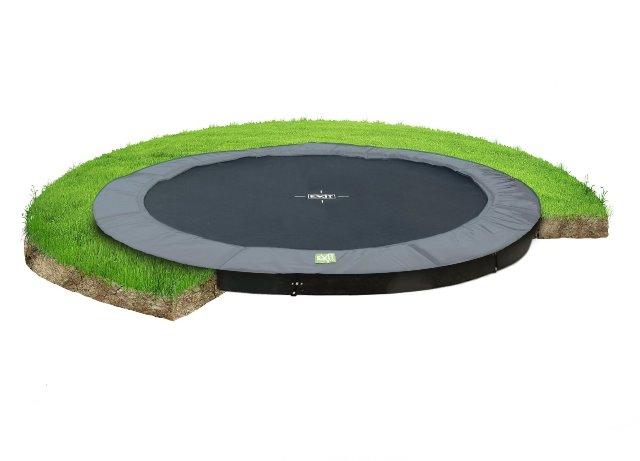 Exit trampoline interra 305 cm groundlevel grijs