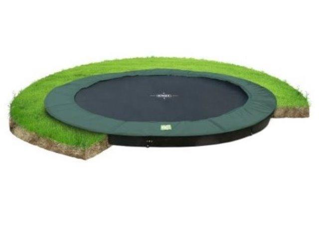 Exit trampoline 305cm interra groundlevel groen