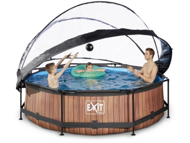 Exit zwembad 360cm wood met kap