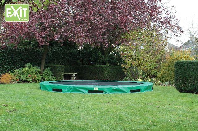 Exit Interra 366 cm trampoline groen