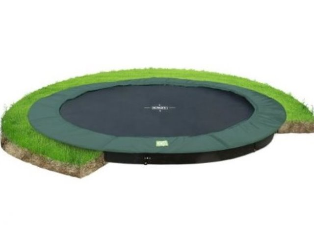 Exit trampoline interra 366 groundlevel groen