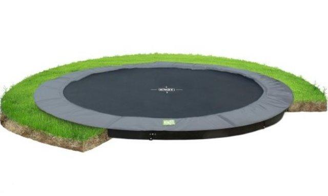 Exit interra 427cm groundlevel trampoline grijs