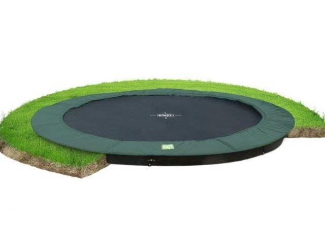 Exit interra trampoline 427 groundlevel groen