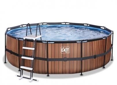 UITVERKOCHT   Exit zwembad-wood-450-122-zandfilter