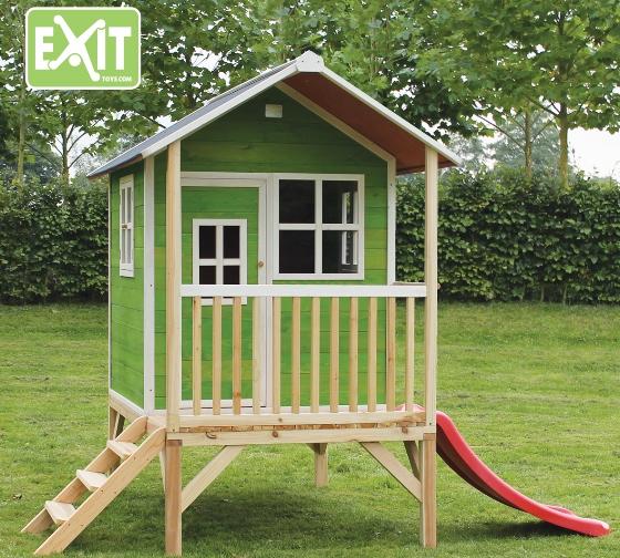 Exit speelhuisje Loft 300 groen