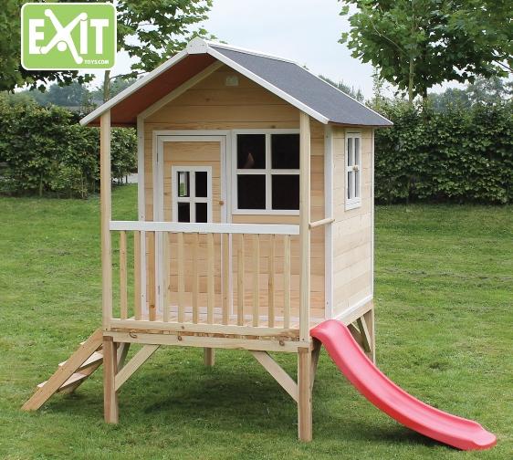 Exit speelhuisje Loft 300 naturel