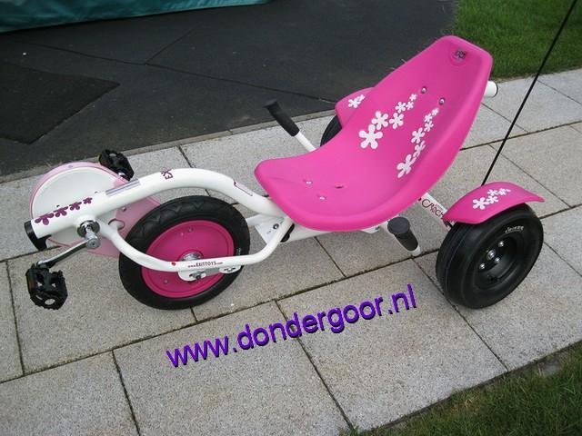 Triker Ladyrocker roze-wit
