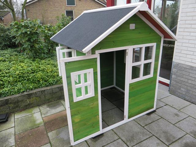 Exit speelhuisje Loft 100 groen