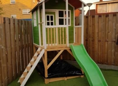 Speelhuisje Loft 500 special groen