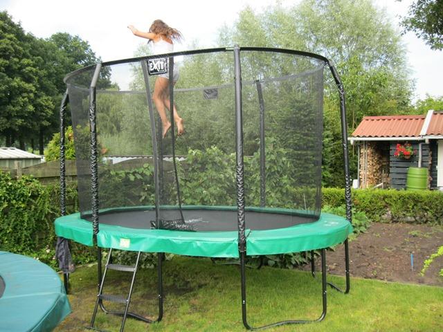 Exit trampoline Jumparena Oval 244 x 380 cm. showmodel