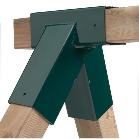 Hoekverbinding 100 x 100 mm vierkant