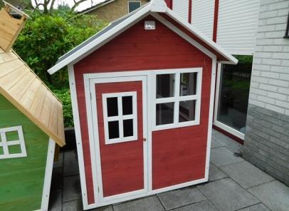 Speelhuisje Loft 100 rood