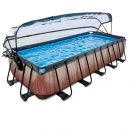 zwembad 540-250-Wood 122cm met kap zandfilter