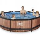 Exit zwembad 360cm rond wood <alleen afhalen>