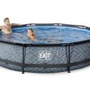 Exit zwembad 360 cm rond-stone <alleen afhalen>