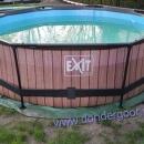 Zwembad Exit 360cm houtlook, 76cm hoog met filterpomp