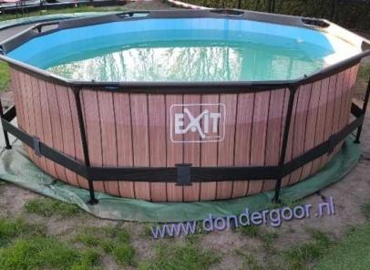 zwembad Exit 300cm rond wood