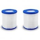 UITVERKOCHT   filters catridge 8 x 9 cm voor zwembad 300-360cm