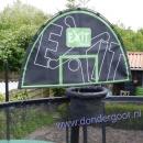 trampoline basket met bal