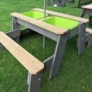 Exit picknick zand-watertafel met 2 bankjes