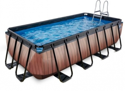 zwembad 400x200-122cm wood-Zf
