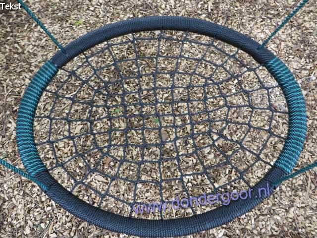 Nestschommel Oval groen zwart