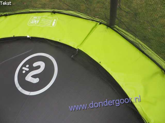 244 cm beschermrand groen-grijs