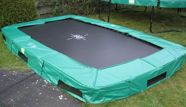 Trampoline 214x366 Interra ground groen