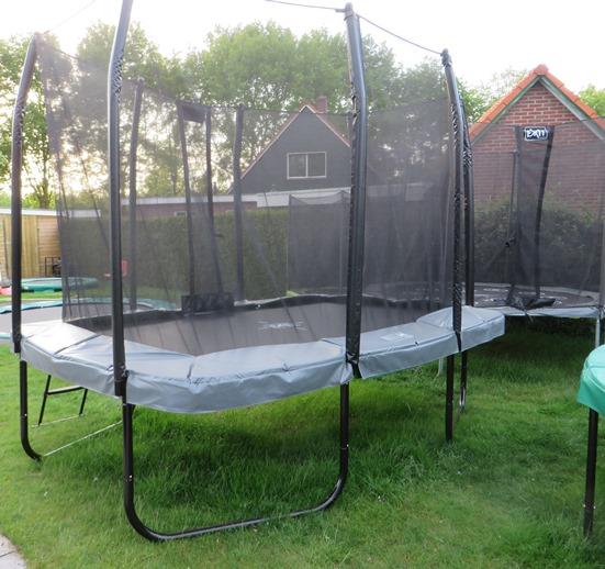 Exit jumpArenA rechthoek trampoline 214x366 met net