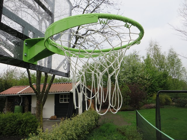 stalen basketbal ring