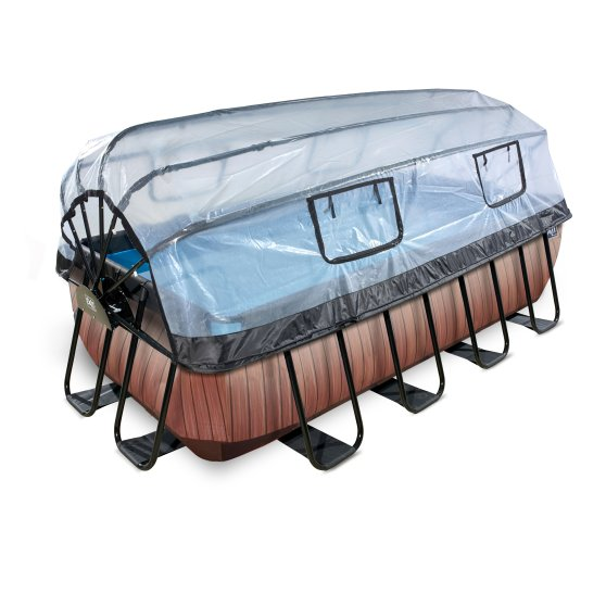 400x200 zwembad wood met overkapping