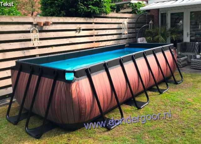 Zwembad 400 x 200 cm Wood